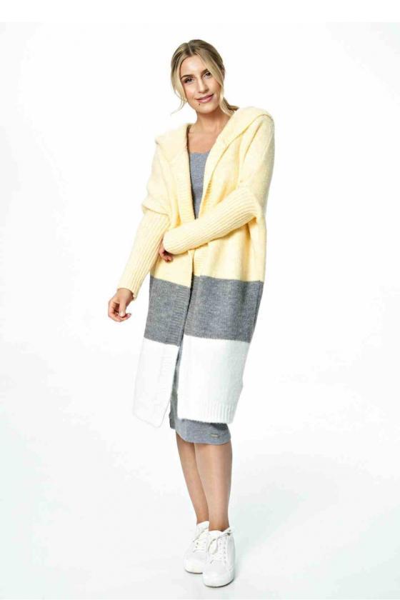 Mėlynos spalvos džinsų imitacijos leginsai su gėlėmis_58252