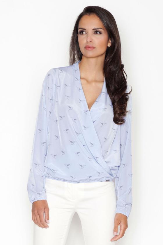 Mėlynos spalvos džinsų imitacijos leginsai su gėlėmis_58253