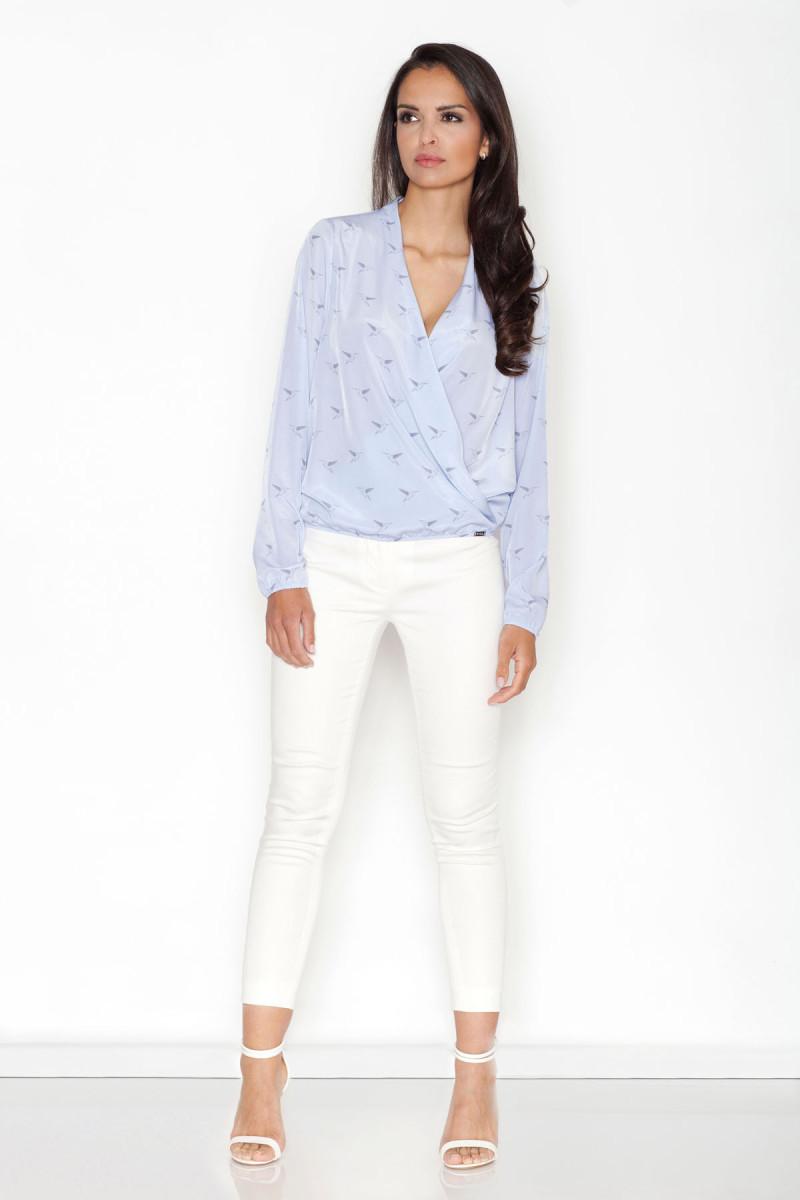 Mėlynos spalvos džinsų imitacijos leginsai su gėlėmis_58254