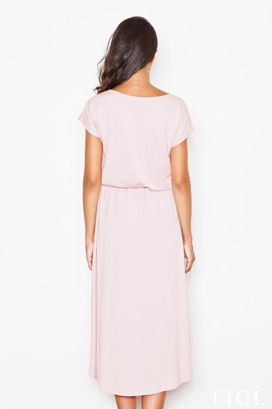 Žydros spalvos šifoniniai marškiniai su šilku_58333