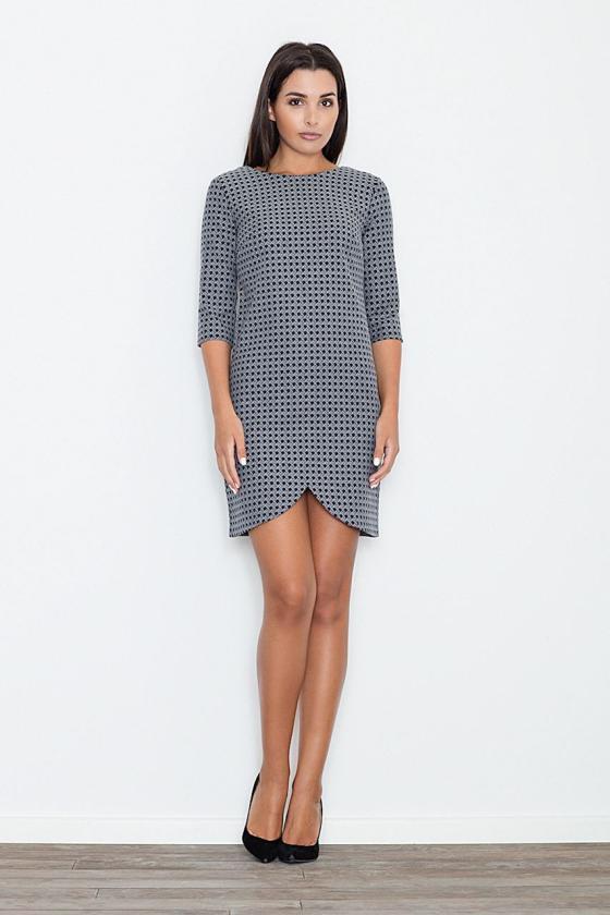 Rausvos spalvos šifoniniai marškiniai su šilku_58349