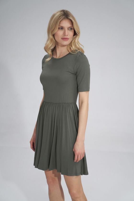 Trumpas rožinis sijonas su šilku