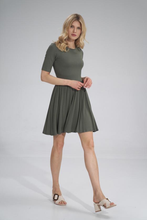 Trumpas rožinis sijonas su šilku_58384
