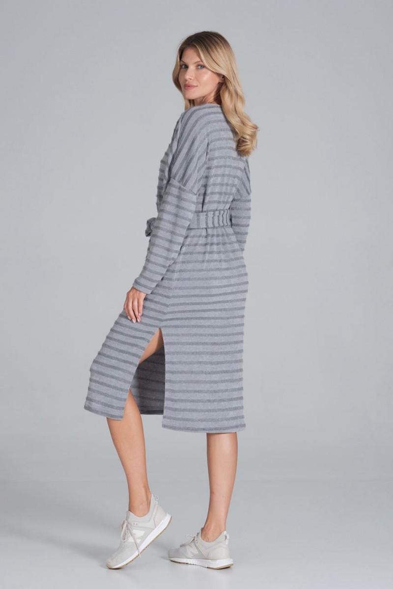 Trumpas mėlynas sijonas su šilku_58389