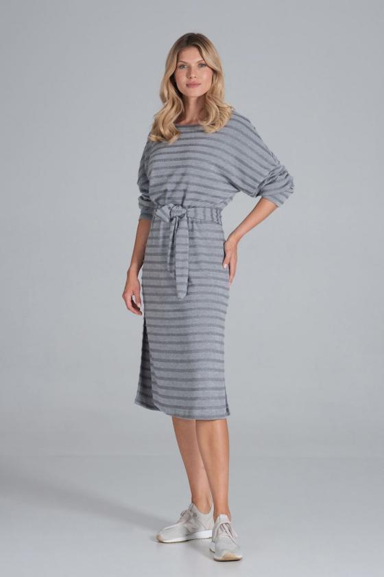 Trumpas mėlynas sijonas su šilku_58390