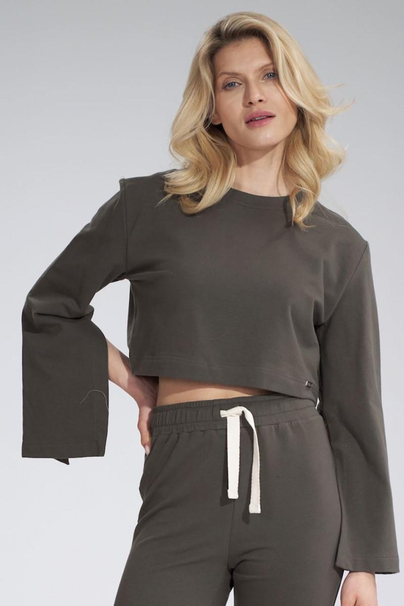 Madingas baltas odos imitacijos sijonas su dirželiu_58457