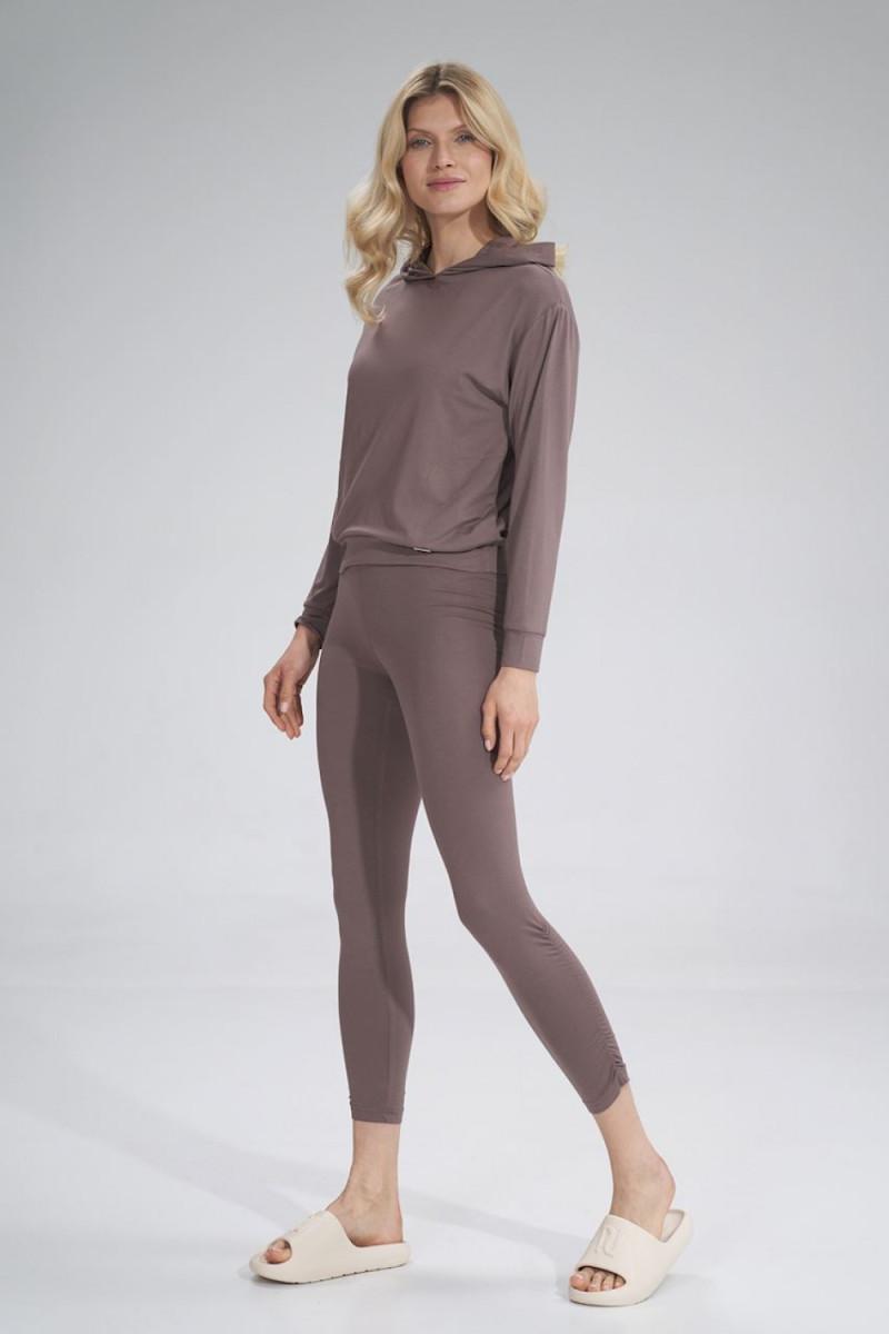 Madingas rausvas odos imitacijos sijonas su dirželiu_58465