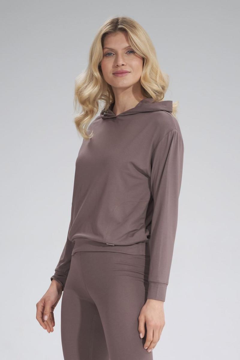 Madingas rausvas odos imitacijos sijonas su dirželiu_58467
