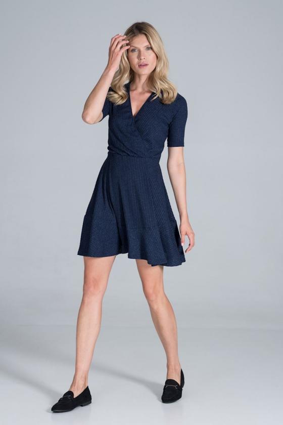 Kapučino spalvos oversize suknelė su gobtuvu_58537