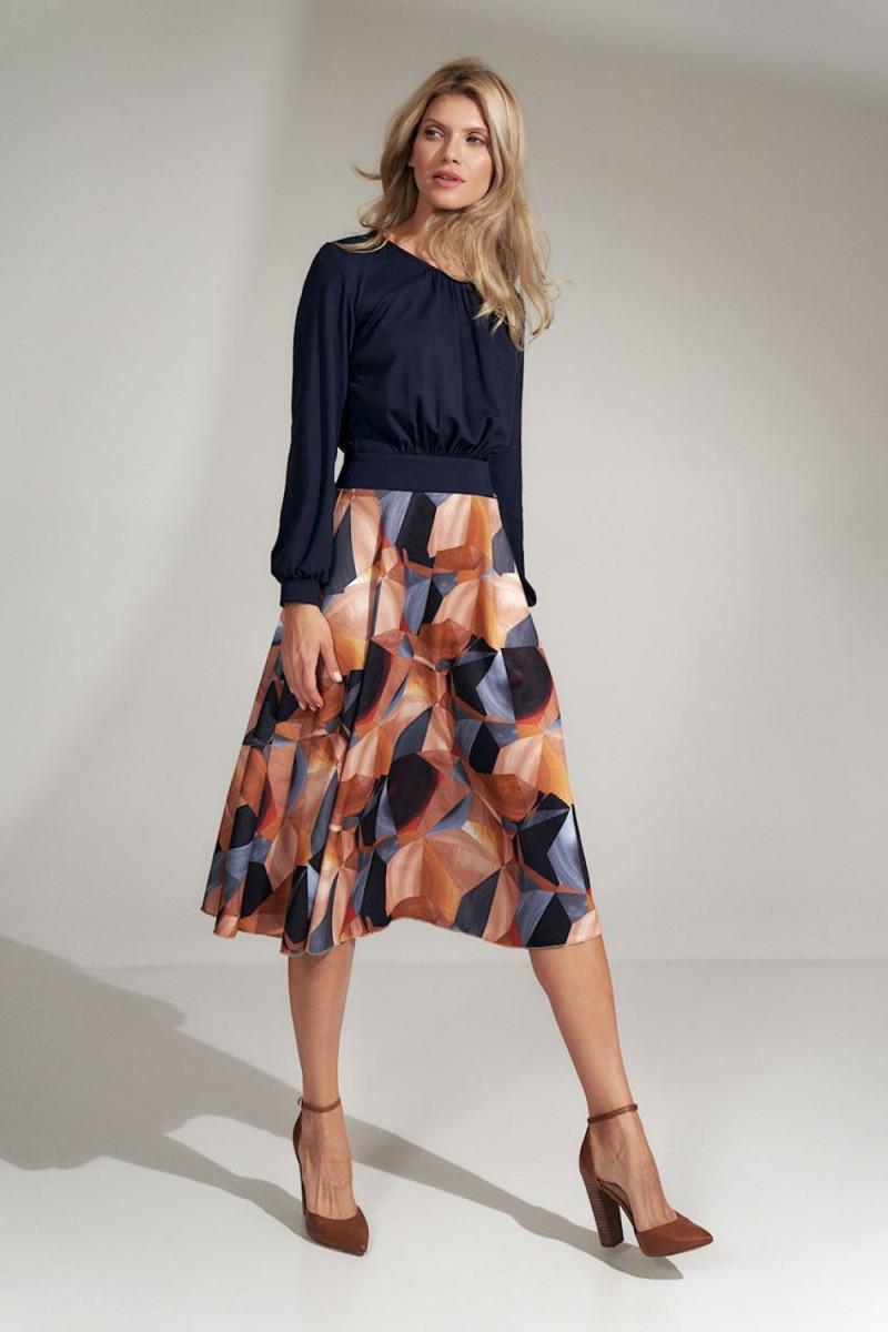 Mėlynos spalvos oversize suknelė su gobtuvu_58551