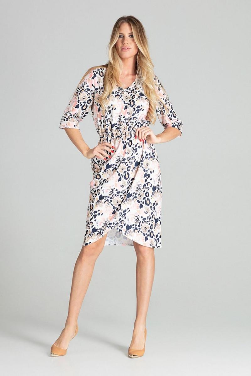 Mėlynos spalvos oversize suknelė su gobtuvu