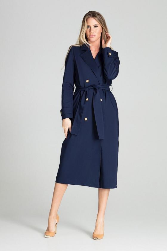 Tamsiai mėlynos spalvos oversize suknelė su gobtuvu_58560