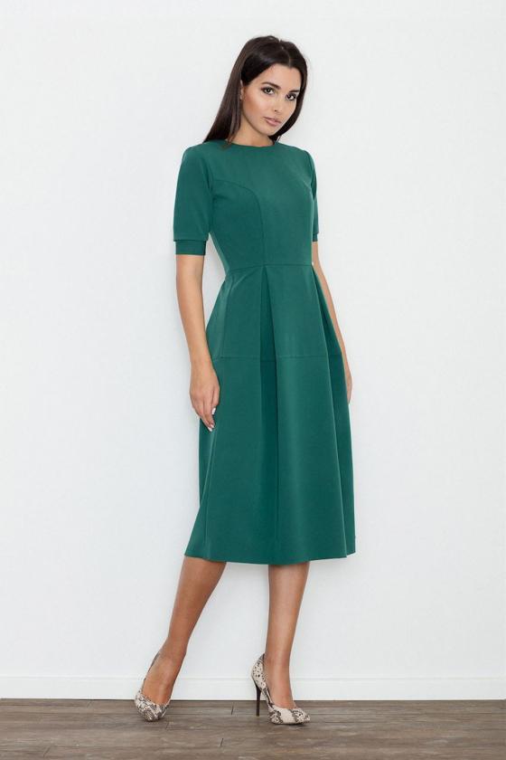 Mėlynos spalvos suknelė su kapišonu ir kišenėmis_58689