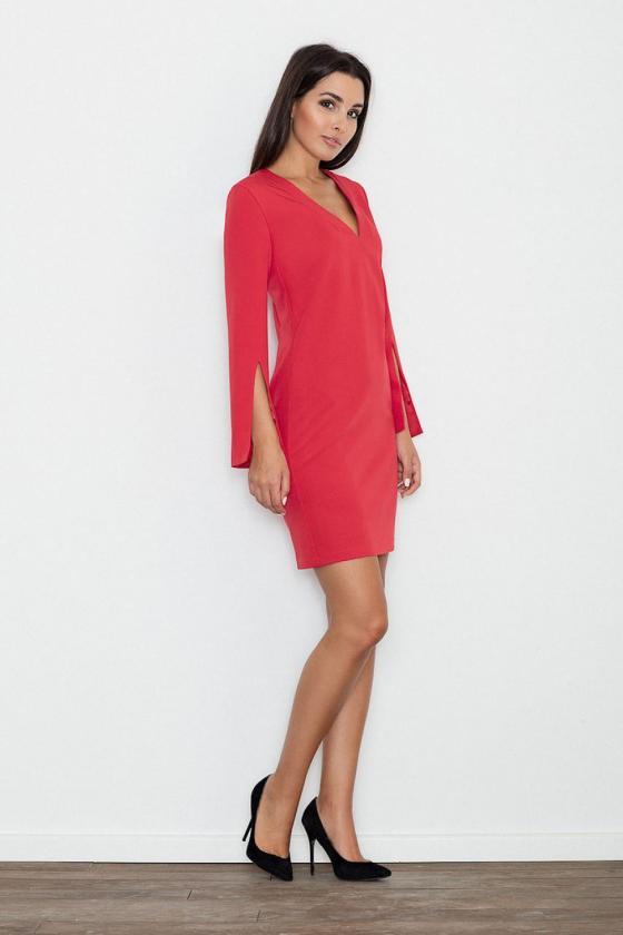 Žydros spalvos suknelė su kapišonu ir kišenėmis_58693