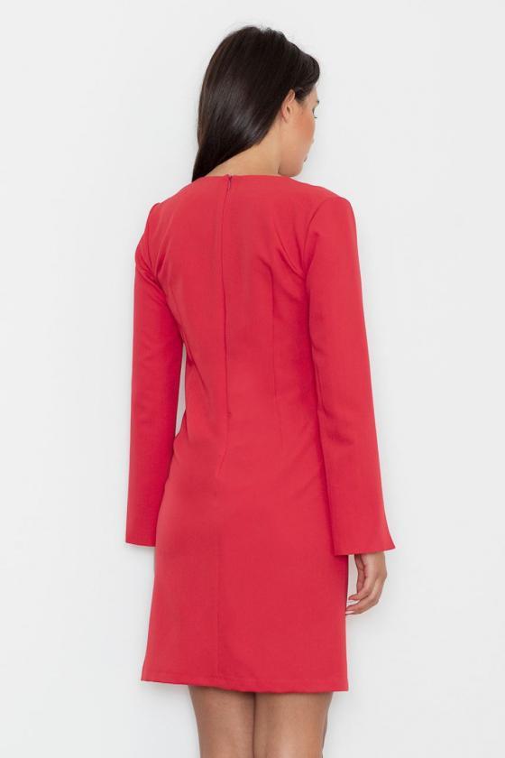 Žydros spalvos suknelė su kapišonu ir kišenėmis_58694