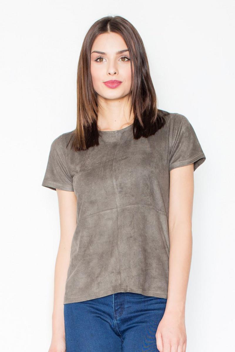 Chaki spalvos suknelė su kapišonu ir kišenėmis_58700