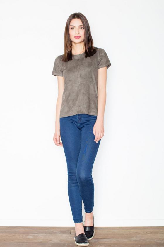 Chaki spalvos suknelė su kapišonu ir kišenėmis