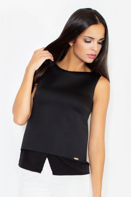 Juodos spalvos suknelė su kapišonu ir kišenėmis_58705
