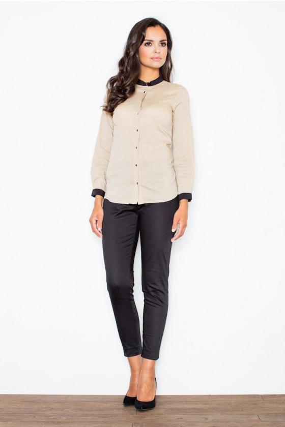 Kapučino spalvos suknelė su kapišonu ir kišenėmis_58712