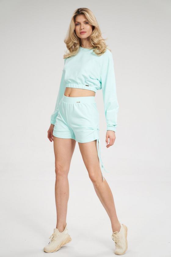 Pailginta mėlyna suknelė su kapišonu_58829