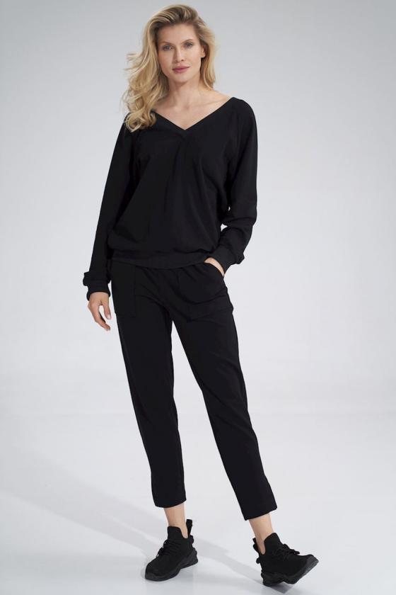 Pailginta violetinė suknelė su kapišonu_58845