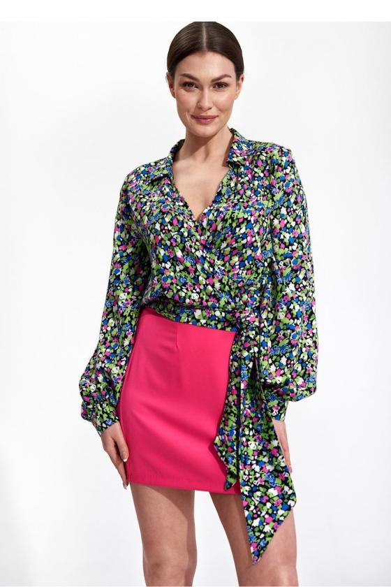 Ilga neoninė geltona boho stiliaus suknelė
