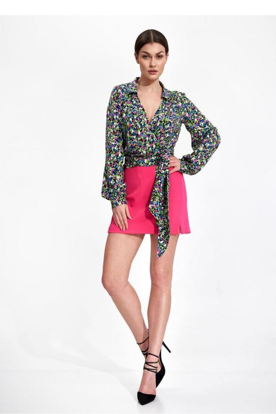 Ilga neoninė geltona boho stiliaus suknelė_58863