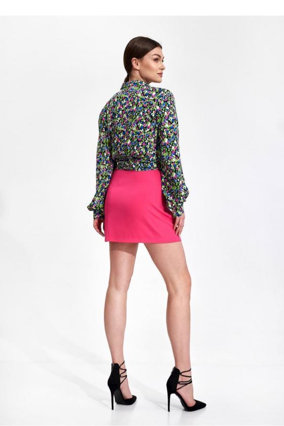 Ilga neoninė geltona boho stiliaus suknelė_58864