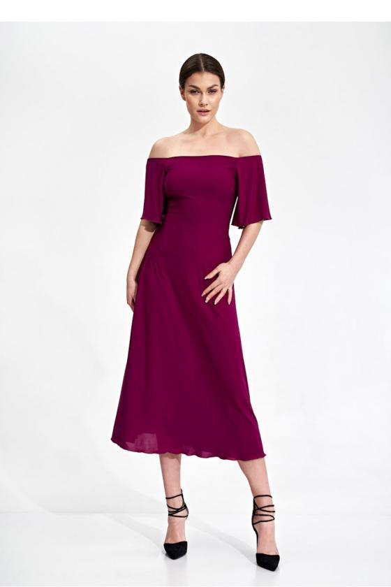 Ilga juoda boho stiliaus suknelė_58886