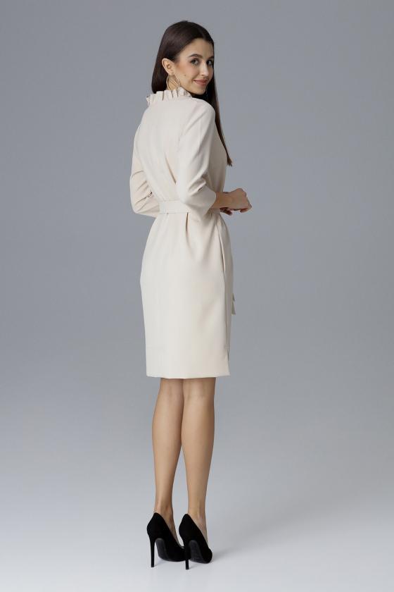 Ilga mėlyna boho stiliaus suknelė