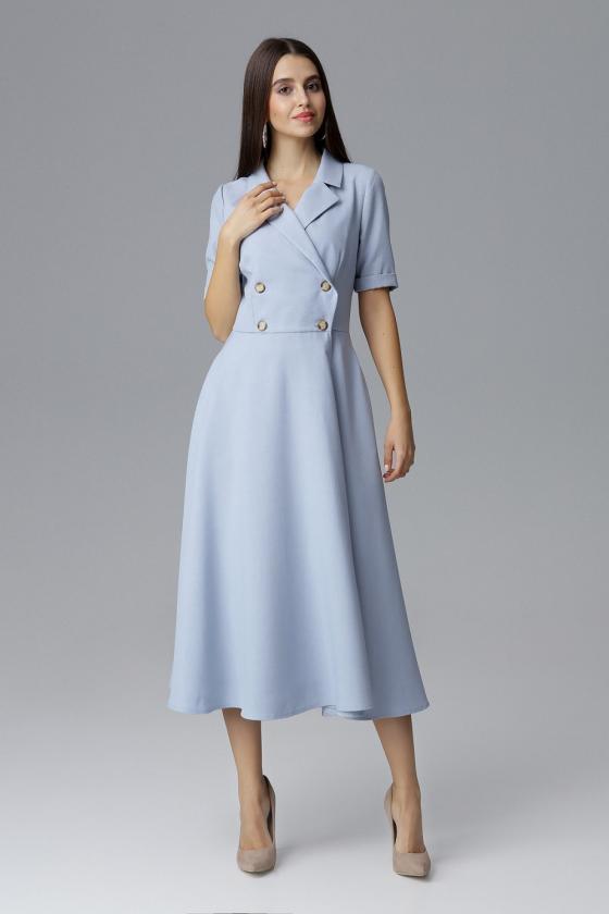 Ilga mėlyna boho stiliaus suknelė_58892