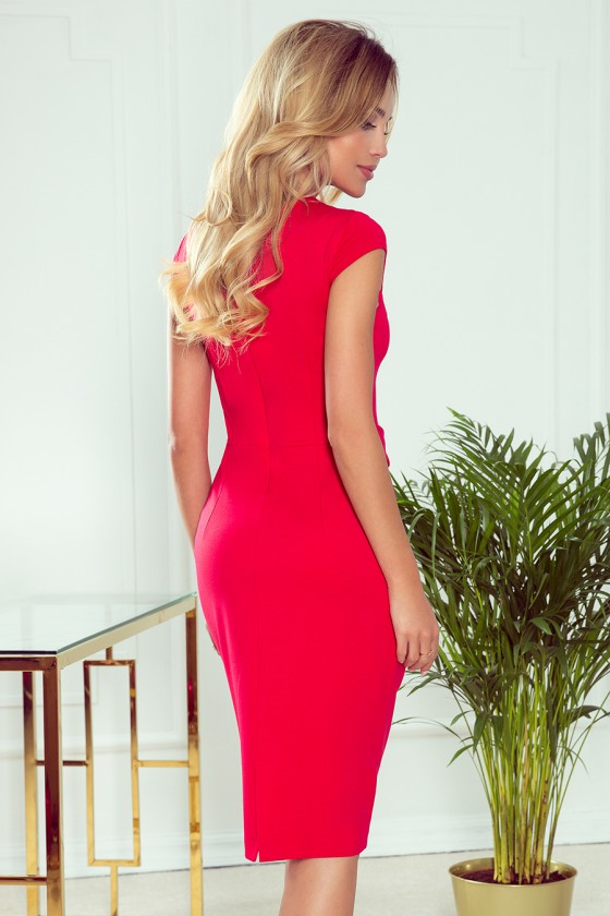 """Elegantiška raudona suknelė su dirželiu """"Tamara""""_59115"""