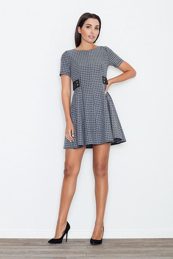 """Elegantiška raudona suknelė su dirželiu """"Tamara"""""""