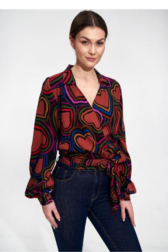 Juodos spalvos suknelė su sagtimis_59245