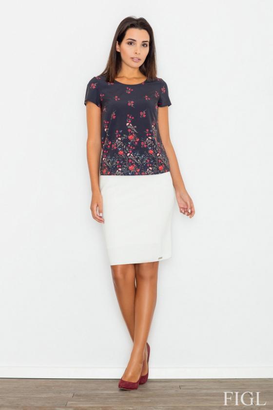 Baltos spalvos suknelė su sagtimis_59253