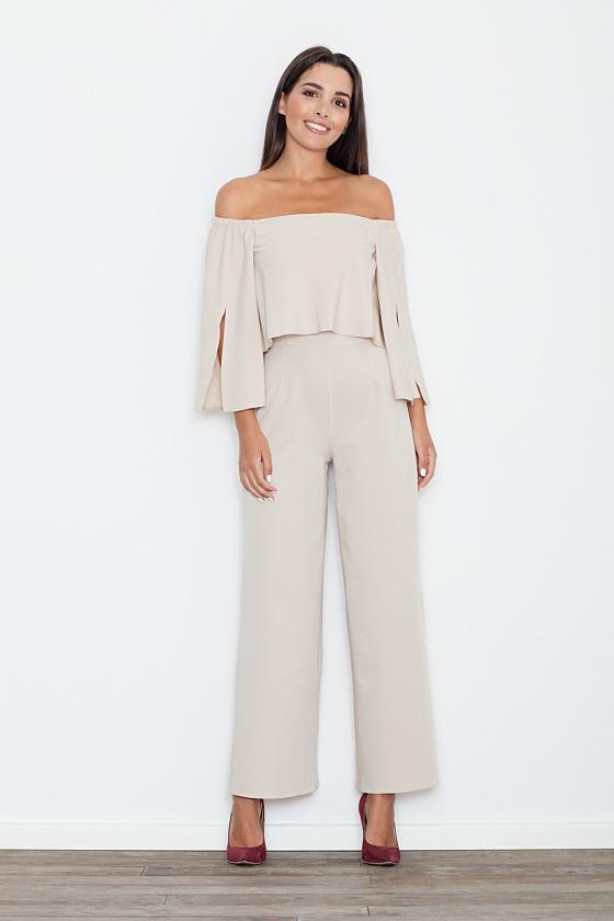 Baltos spalvos suknelė su sagtimis