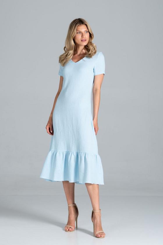Šifoninė rausvos spalvos suknelė_59295