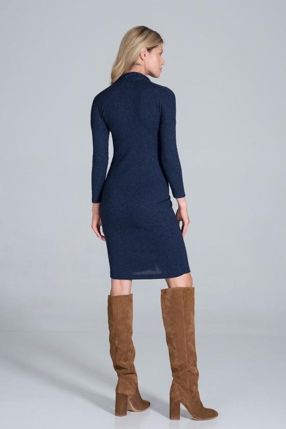 Mėlynas dviejų dalių kostiumas (palaidinė+sijonas)_59301