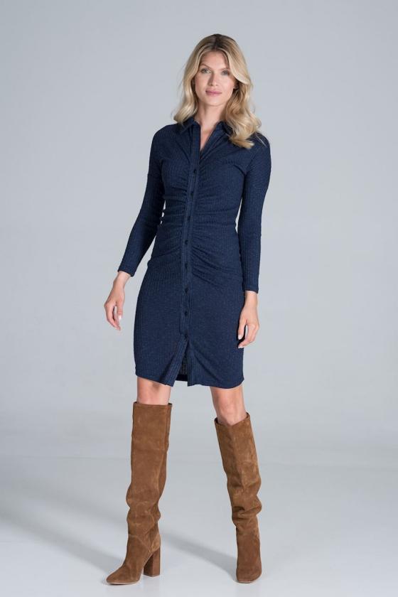 Mėlynas dviejų dalių kostiumas (palaidinė+sijonas)