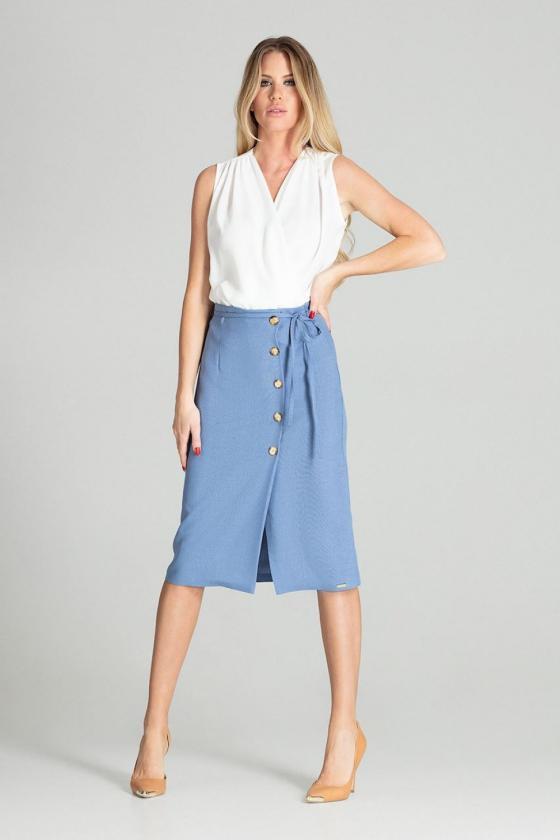 Raudonos dviejų dalių kostiumas (palaidinė+sijonas)_59319