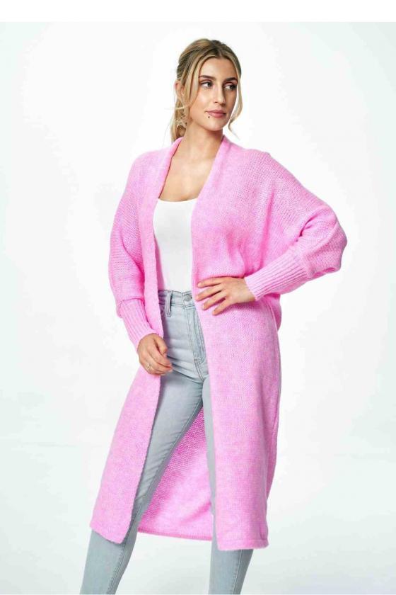 Stilinga rausva suknelė atvirais pečiais_59399