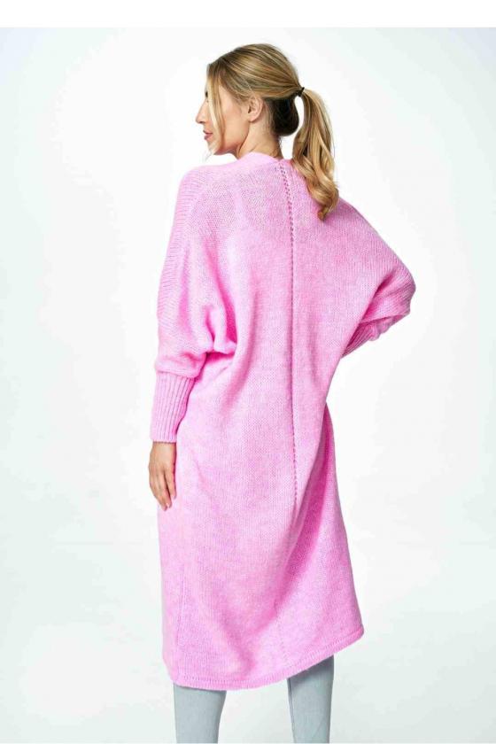Stilinga rausva suknelė atvirais pečiais_59401