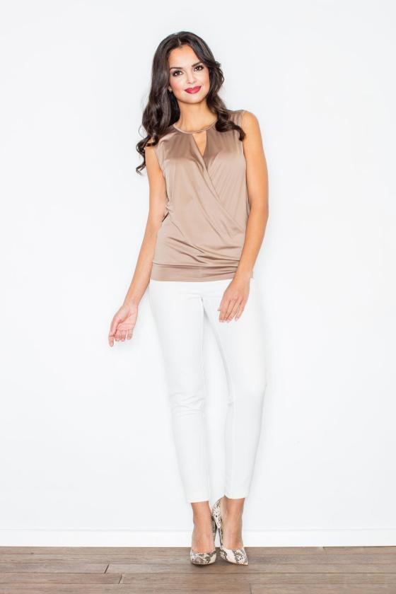 Elegantiška bordinė suknelė plačiomis rankovėmis_59415