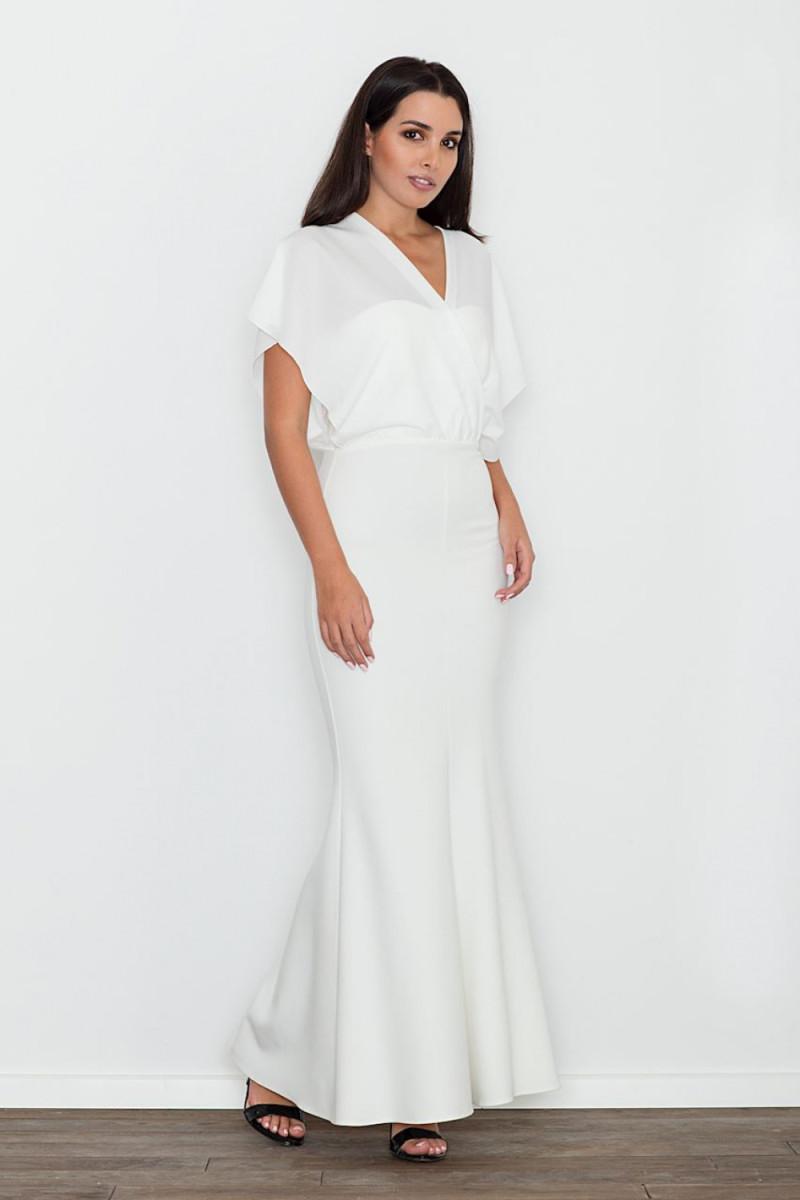 Elegantiška juoda suknelė plačiomis rankovėmis_59424
