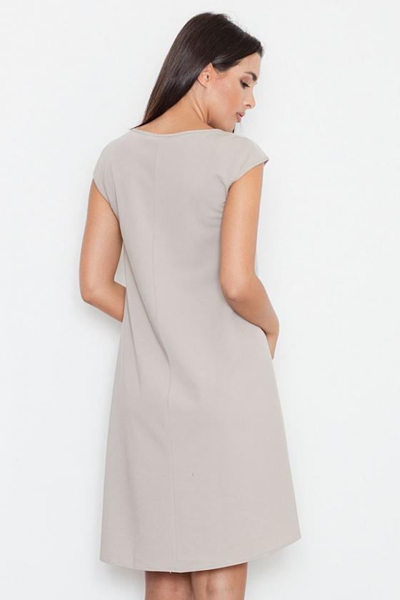 Žalia klasikinė midi suknelė