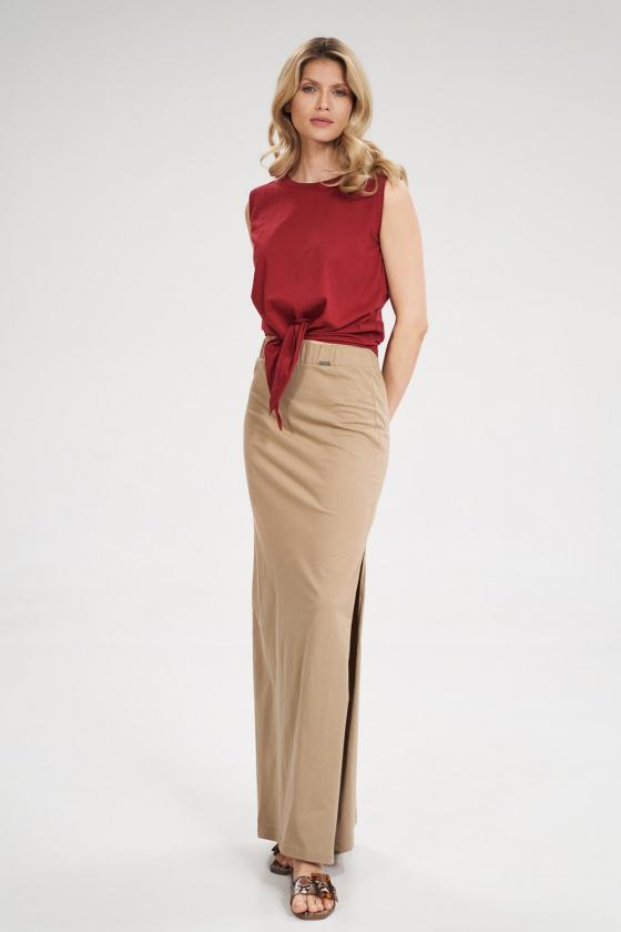 Pailgintas rožinis megztinis su šifonu_59508