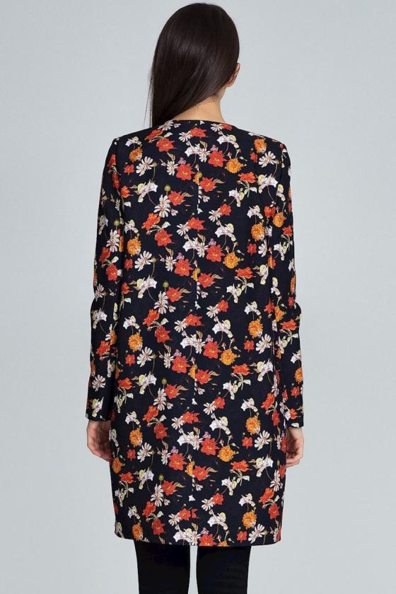 Žydros spalvos suknelė dekoruota raukiniais_59527