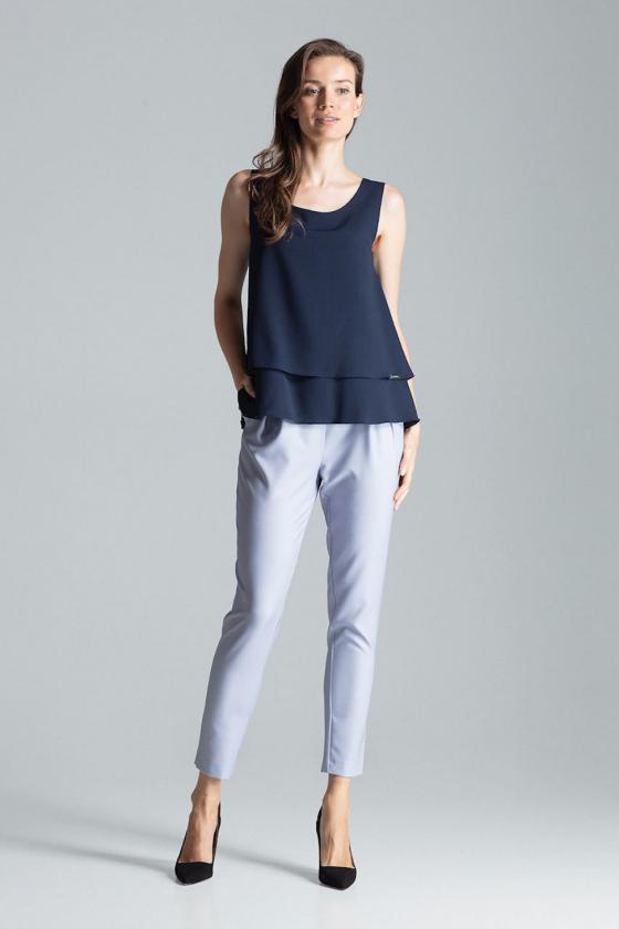 Pilkos spalvos voko stiliaus suknelė su dirželiu_59544