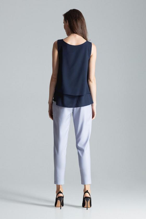Pilkos spalvos voko stiliaus suknelė su dirželiu