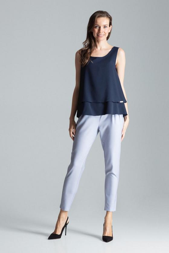 Pilkos spalvos voko stiliaus suknelė su dirželiu_59546